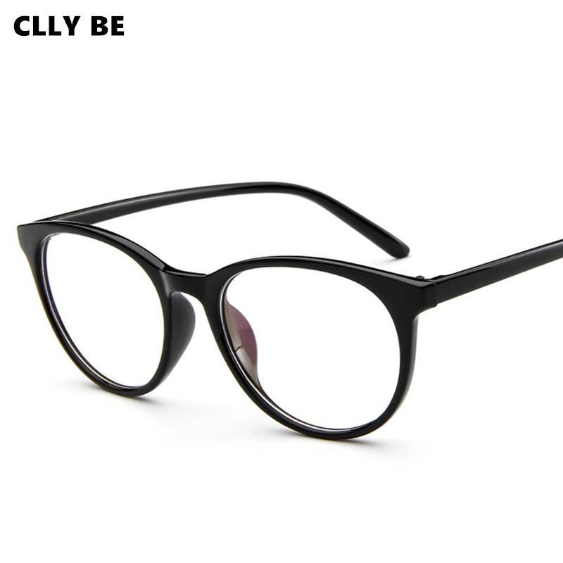 Retro Fashion Unisex Glass Frame for Men Women Black Eyeglass Frame Vintage Cat Eye Clear Lens Glasses Optical Spectacle