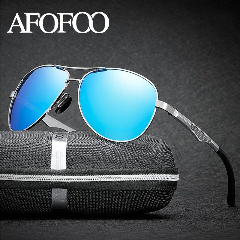 Afofoo Hommes Sunglasses Magnésium + Alliage Lunettes de lunette Conduite de lunettes en aluminium Sun Gafas Shades UV400 de Sol MHHPR