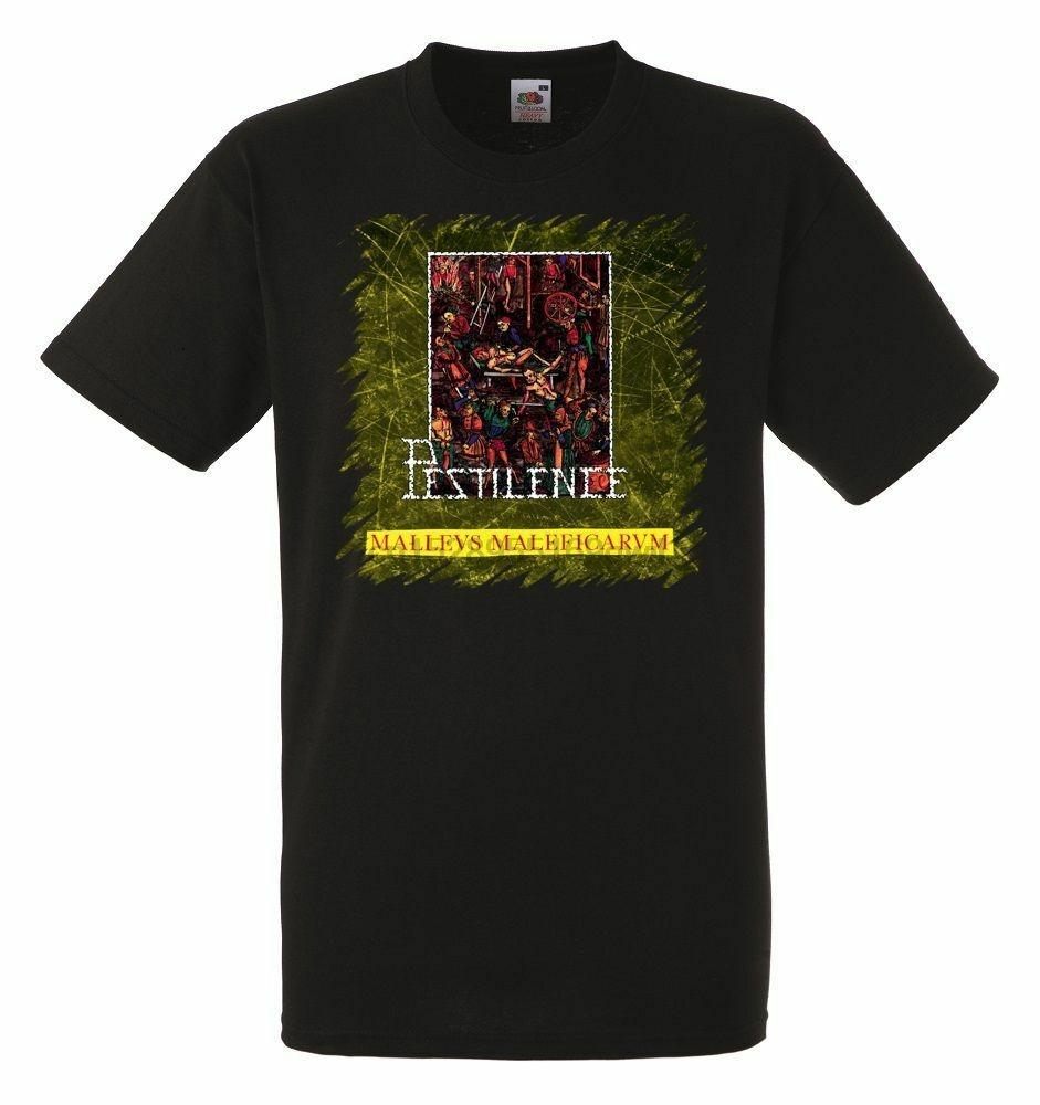 PESTILENCE Malleus Maleficarum para hombre Negro de la roca camiseta de los nuevos tamaños de S-XXXL