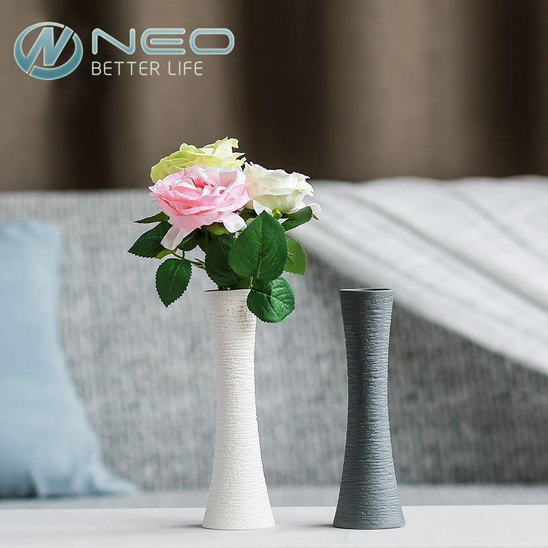 Modern Style Ceramic Artificial tabela vaso de flor moderno porcelana secas vaso de flor moderno do casamento Início presente Decor vaso
