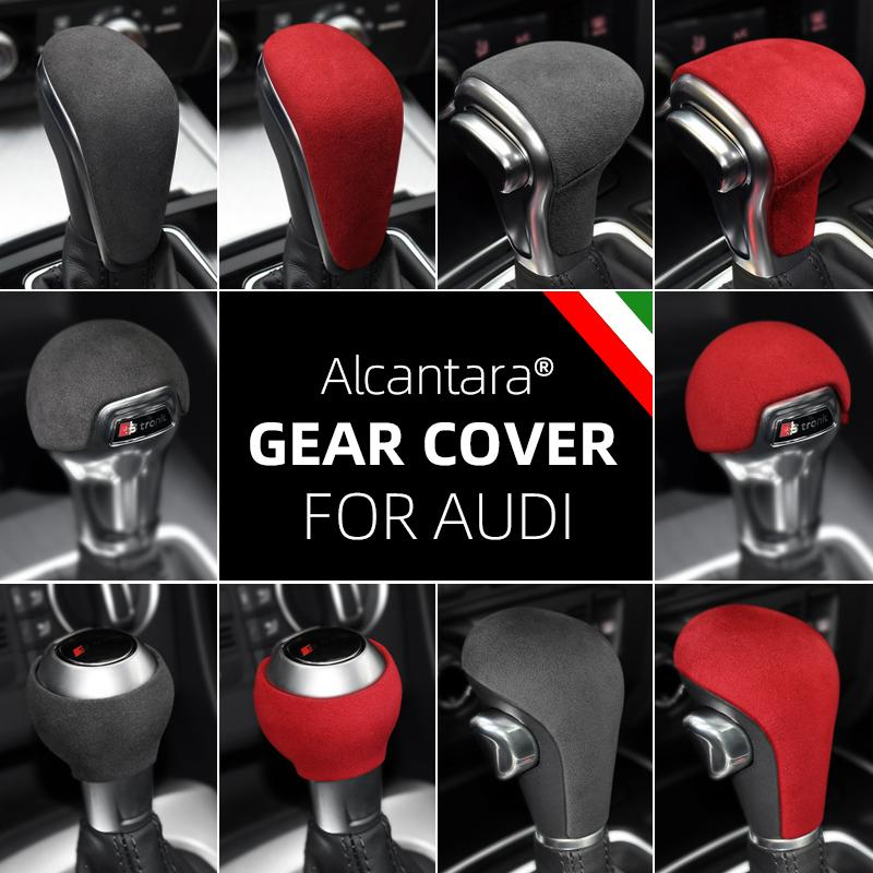 Alcantara Suede Emballage ABS POMMEAU Cover pour Audi A3 A5 A4L A6 A6L A7 Q5 Q5L Q7 S6 S7 Q2L TT TTRS RSQ3 RS3 RS4 RS5 RS6