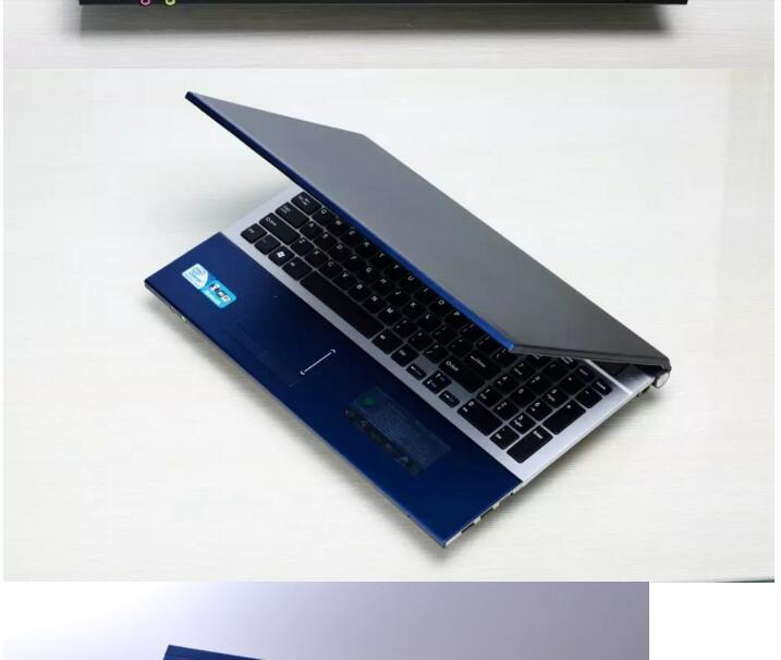 15.6inch LED HD Intel Core i7 CPU 4GB RAM 500GB SSD Built-in Bluetooth WIFI 4000MAh High Battery Capacity dvd rom