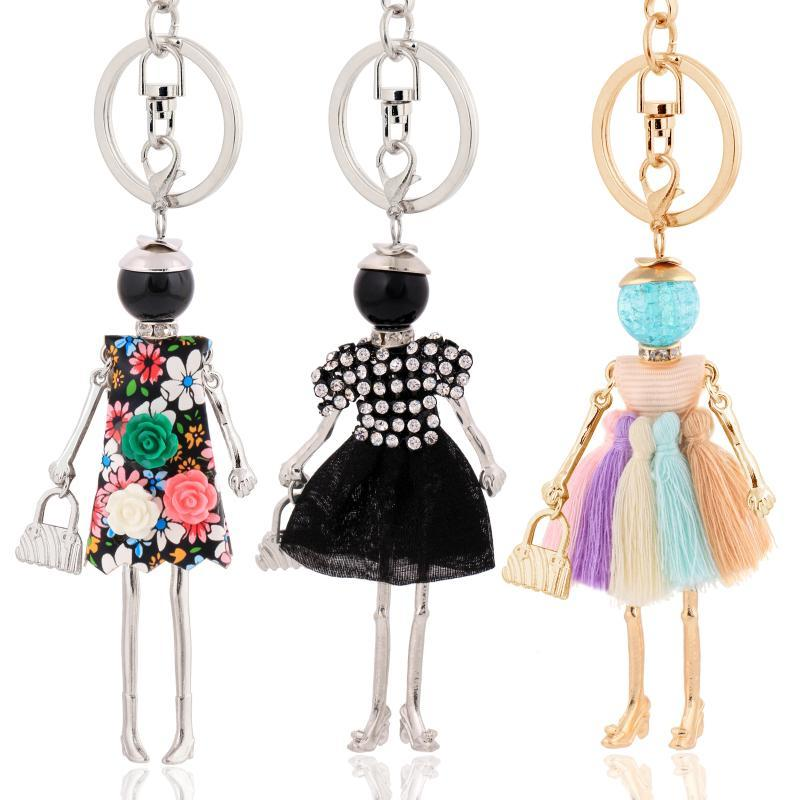 Women Keychain for Lady 2020 New Statement Charm Metal Key Chain Jewelry Cute Gift Female Bag Pendant Trendy Key Ring Wholesale