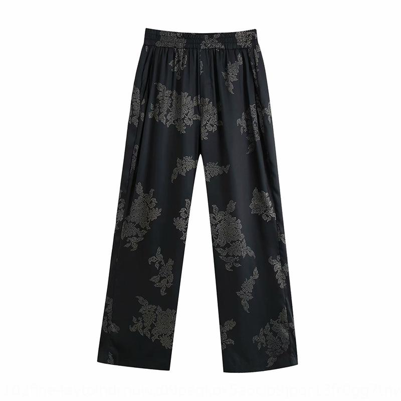 2020 nueva manera del verano de las mujeres suelta impresa 04437253800 2020 nueva moda de las mujeres del verano pantalones sueltos impresos pantsShirt informal pantsshirt c