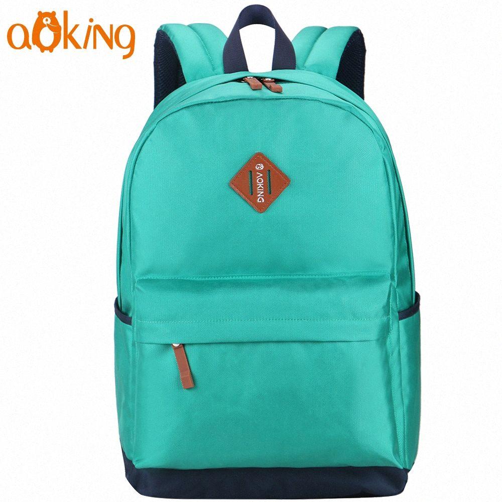 Aoking Freizeit für Jugendliche und die Jungen Laptop-Rucksack Computerschule Rucksäcke Freizeit Für Teenager einfache tägliche Fashi bhBQ #
