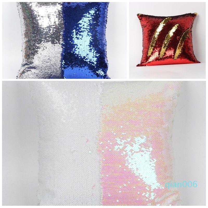 Новый шаблон диван Cushions Люкс Домашнее украшение пришивания Mermaid наволочка наволочки Главная Мебель Multicolour 8 3JS D2
