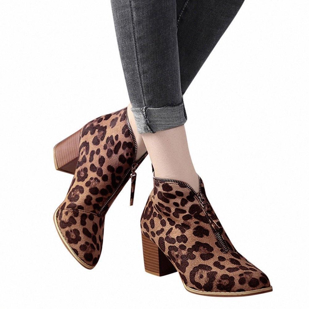 Зимние ботинки женщин Lady Обувь Женщина Ботильоны Pu кожа Сращивание Передняя молния пинетки Большой размер 35 43 девушки Boots Black голеностопного загрузки Ud5i #