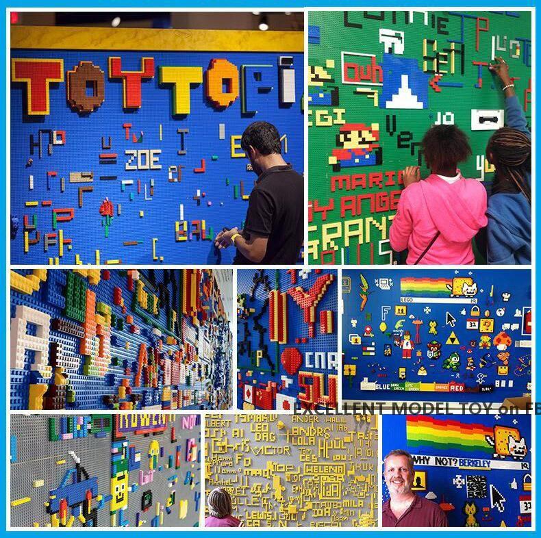 32 * 32 kleine Punkte Bausteine doppelseitige Basis, 25,6 * 25,6 cm, 20 Farben, DIY Montage Pädagogisches Spielzeug, Weihnachtskind-Geburtstagsgeschenk, 2-2