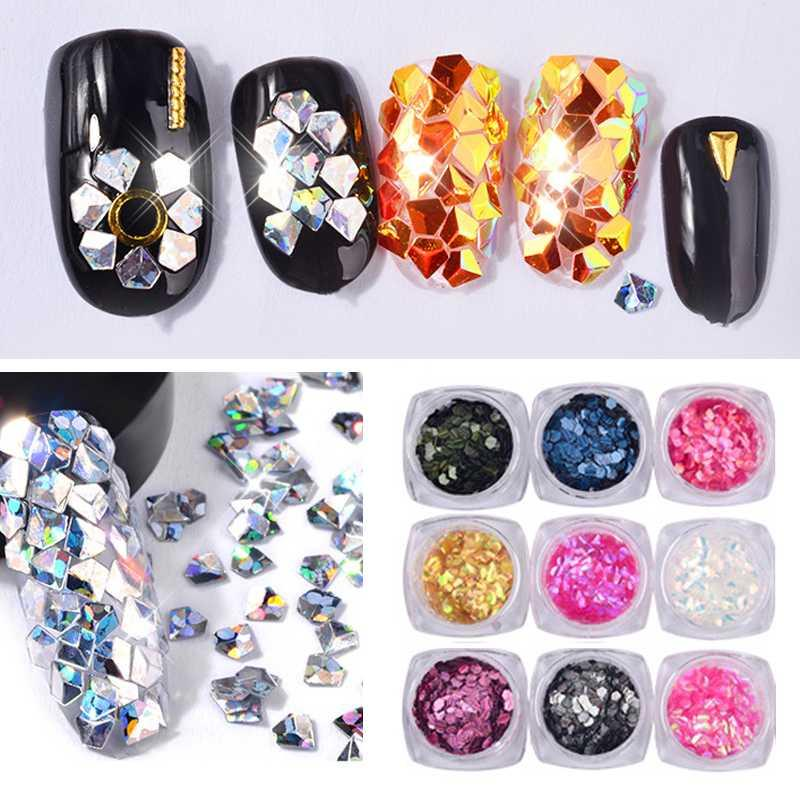 Art strass Bellezza Manicure Accessori di cristallo 3D Nails Art Decorazioni unghie Strass Glitter lucide gemme Pietre Nail