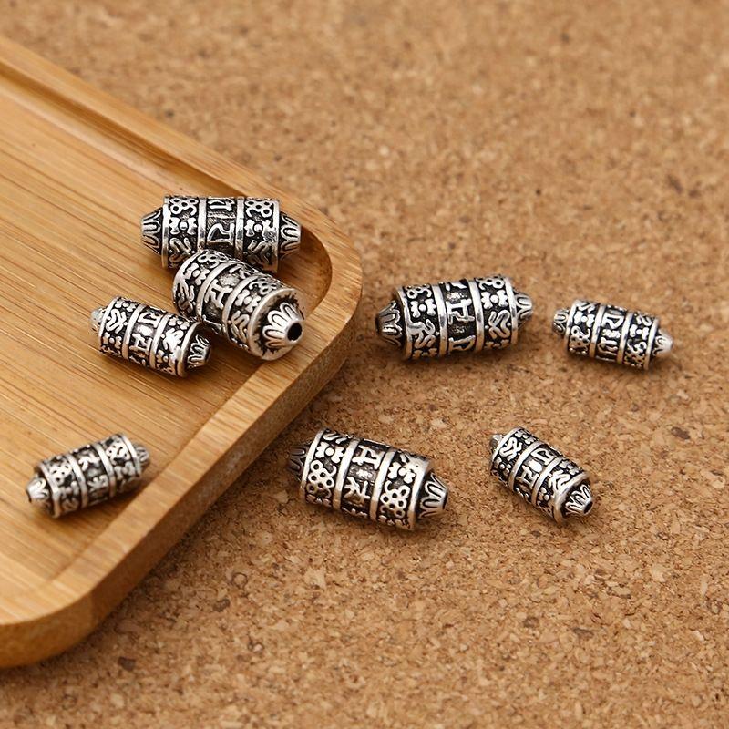 cFGTK S925 Diy Bilezik gümüş Tay gümüş DIY aksesuarlar altı karakterli hakiki kova boncuk bilezik boncuk boncuk