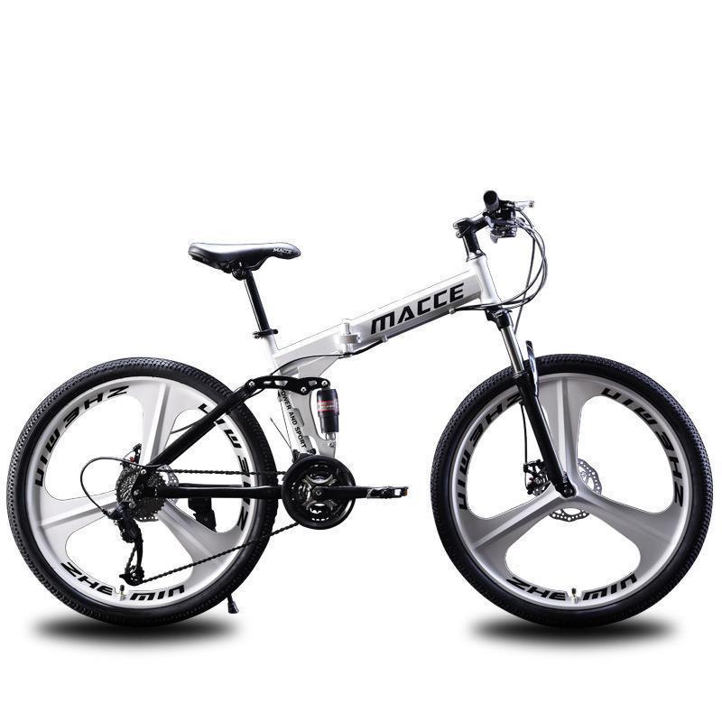 "2020 Mountain Bike 21 velocità 26"" pollici in bici da corsa Bicicletta pieghevole Doppi freni a disco pieghevole mountain bike studente bicicletta biciclet AaUe #"