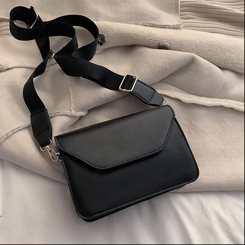 RanHuang New Arrive 2020 Womens Pu Leather Shoulder Bags Girls Brief Flap Casual Messenger Bags Fashion Crossbody Bags A1785