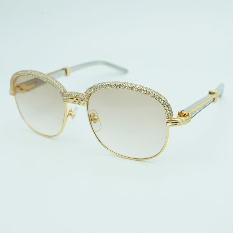 Occhiali da sole del diamante delle donne Uomini Carter Occhiali da sole ovali in acciaio inox Strass Sunglass Vintage