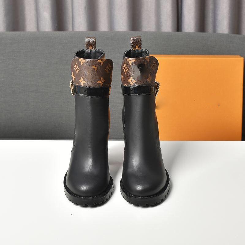 Louis Vuitton 2020 otoño e invierno nuevas botas de las mujeres de piel de becerro ocasional refrescantes y forma ordenada, cómodo, versátil, simple y de moda, versatil
