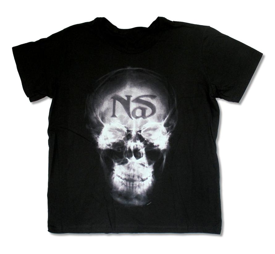 Nas X Ray schwarzes T-Shirt New Hip Hop Rap-Sweatshirt-T-Shirt