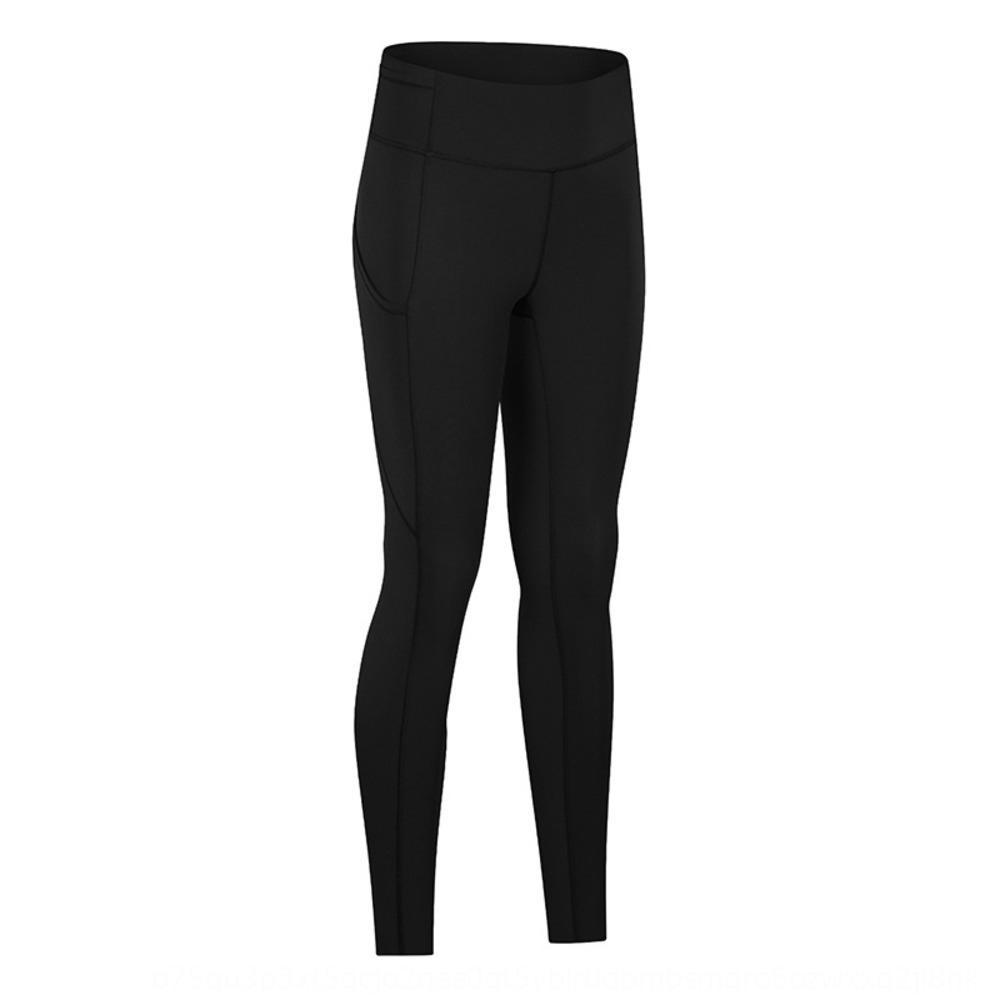 elastisch und doppelseitige hohe Taille näht Tasche Sportlaufknöchellangen Hosen Merillat elastische Hosen und Hosen Merillat doub