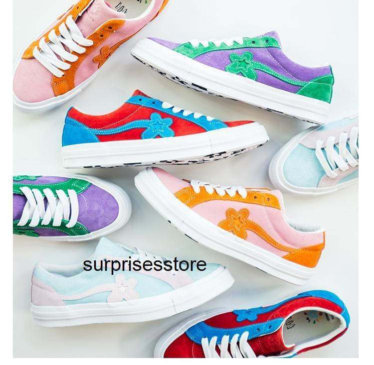 Converse x One Star Ox Golf Le Fleur OX TTC 1970s Classic Canvas Shoes Tyler The Creator Trending Men Women platform Casual Trainers Sneakers