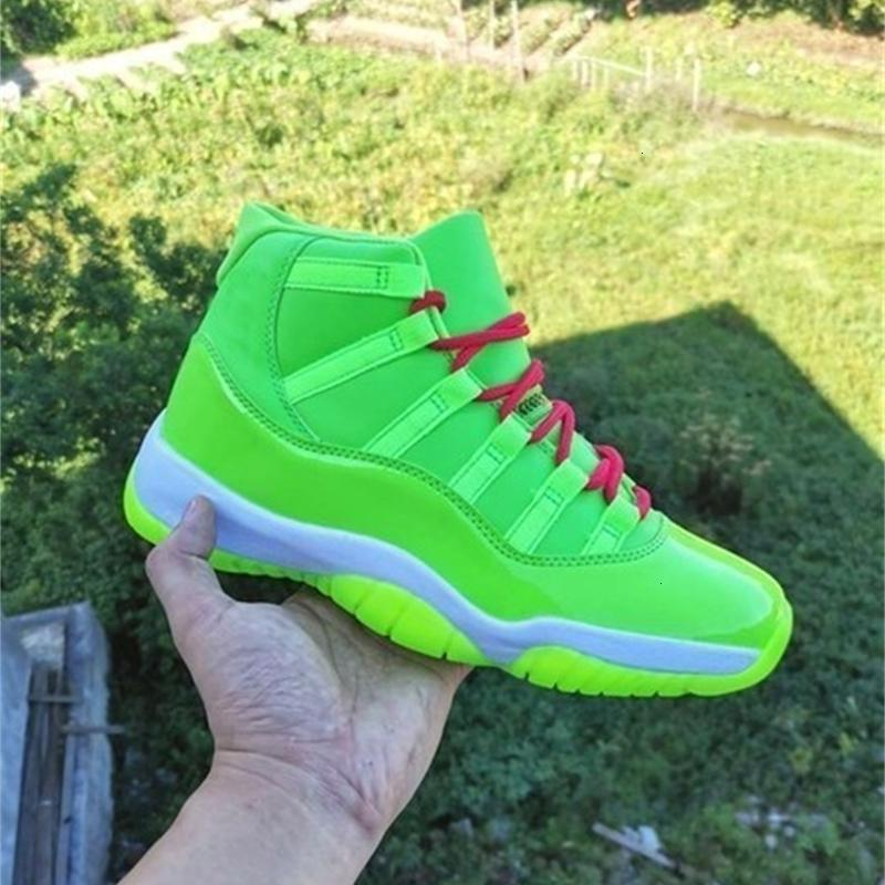 2020 New Gamma Space Jam 11 Gs Blue Jumpman Men Women Basketball Shoes Good Quality 11s Green Athletic Sneakers Mens Designer Trainer