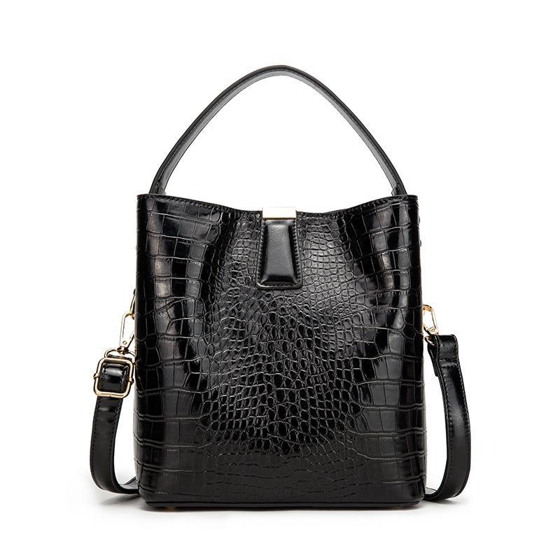 Purse Alligator Bucket Bags Women Bags Casual Pattern PU Handbag Crocodile Shoulder Messenger Crocodile Ladies Capacity Retro Mmhin