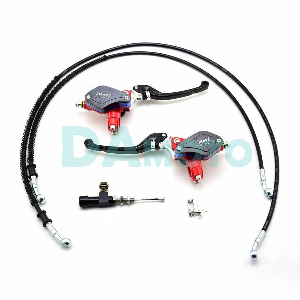 Motorrad Hauptzylinder- Hebel Hydraulikkupplung Pumpe Racing Bremspumpenhebel einstellbare Handgriff für 125-250cc PIT Pro Dirt Bike h8aM #