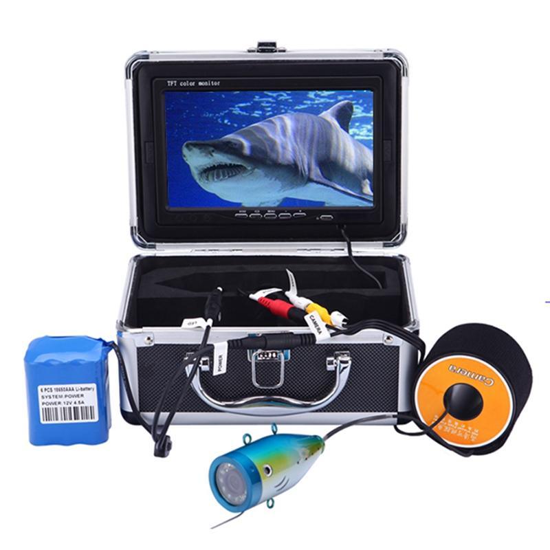 30M 1000TVL Цвет подводной камеры для рыбалки Инфракрасный ИК Светодиод 7 дюймов Видео мониторинг Рыба искатель Face Fisher Camera Eu Plug