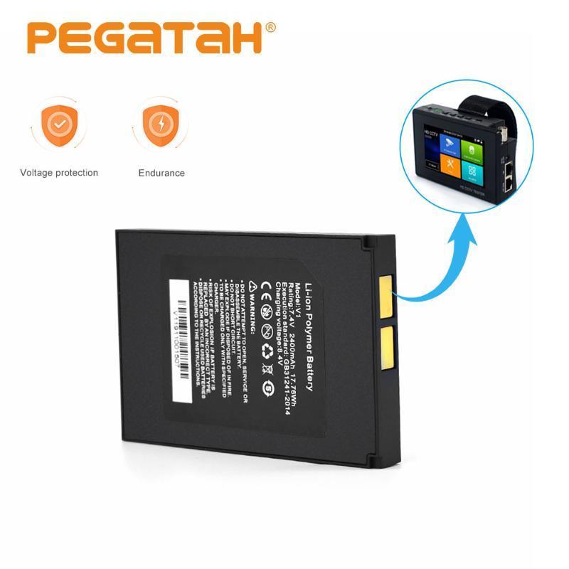 7.4V 2400mAh Lithium Ion Polymer bateria para câmera IP CCTV Tester 8MP CVI CVBS CCTV Tester monitor