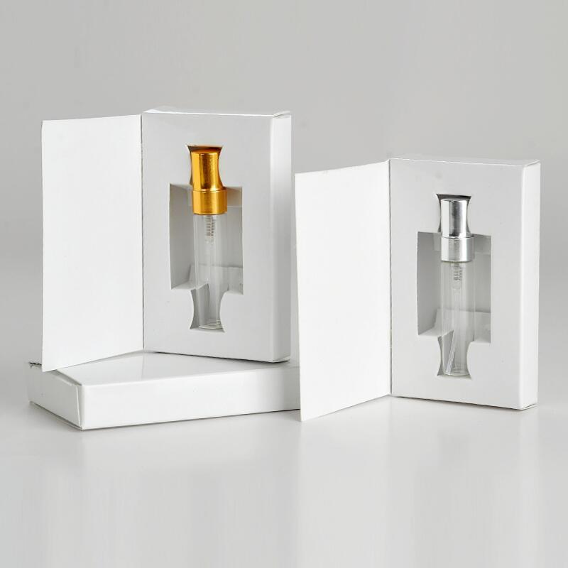 5ML 10ML frasco de vidro de perfume Atomizador Parfum Spray de Frasco com caixa de embalagem cosmética Amostra Vial recarregáveis garrafas LX3244