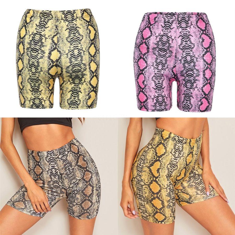 Yaz Kadın Spor Yoga Şort Bisiklet Şort Spor Legging Gym Spor Yüksek Yan Çizgili Pantolon # 395