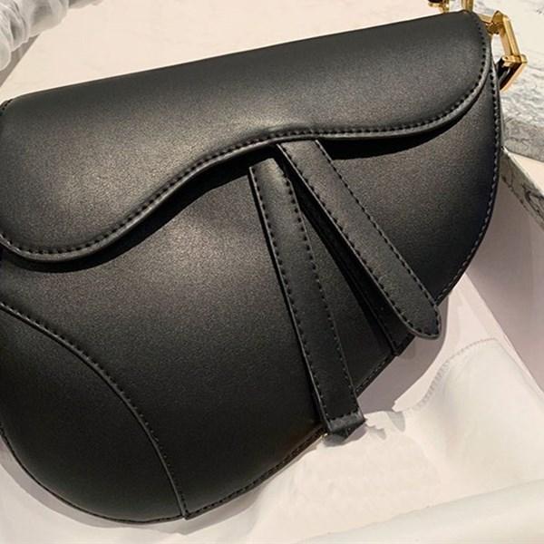 Klasik Kadınlar İşlemeli Çanta at nalı Toka Çanta Gerçek Deri Çanta Omuz Kayışı Bez Messenger Vintage moda Çanta cüzdan