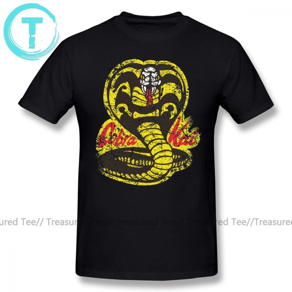 Cobra Kai camiseta Cobra Kai camiseta de manga corta de gran tamaño Camiseta impresa algodón clásico de los hombres Camiseta de la diversión