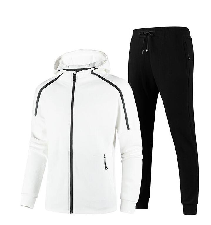 Nuovo design invernali Tute sportive per gli uomini abbigliamento sportivo con lettere Moda manica lunga Mens Tuta casuale Jogger pantaloni L-5XL