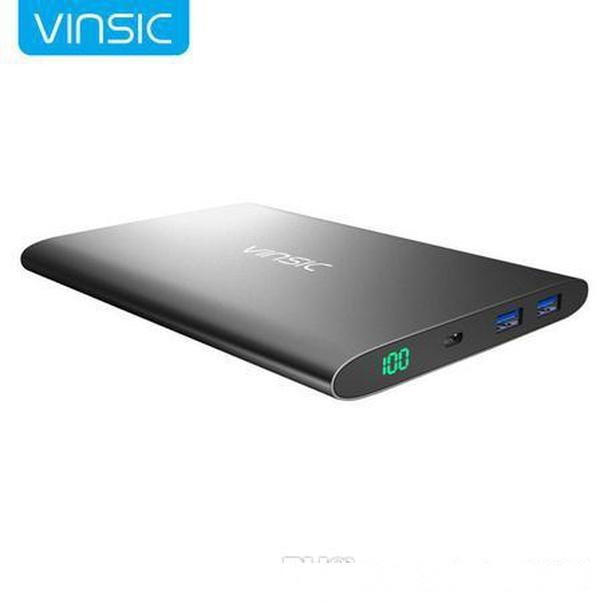 Vinsic Alien P7 15000mAh Ultra Slim Power Bank, Dual Smart USB Port 5V/2.4A External Mobile Battery Charger Pack Universal