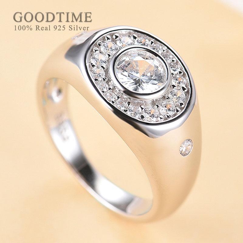 Мода Rhinestone кольца 925 стерлингового серебра Кольцо Циркон Кольца Женщины Благородный ювелирные изделия Аксессуары Подарок для Lady Party
