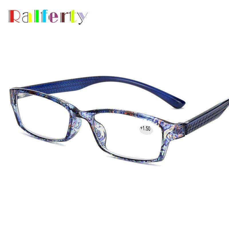Ralferty Reading vidrios de la manera Mujeres Ultra-luz presbicia Glasses rojo de la flor de dioptrías Gafas A9892 1,0 1,5 2,0 2,5 3,0