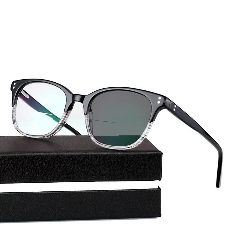 Acetate De Bifocal Readers +1.0~+3.0 Women Glasses Photochromic Reading Diopter Reading Glass Oculos Gafas Sun Men Lectura Anwiu