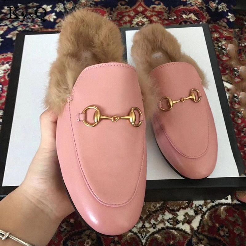 Mujeres marcas Wok Piel real Zapatillas verano de las señoras de los zapatos ocasionales 2018 zapatos mulas en el exterior talones Zapatillas bajas Mujer Calzado Diapositivas 6WNS #