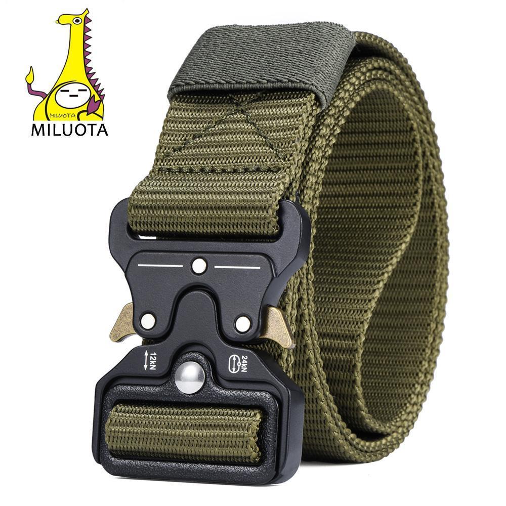 Mens all'ingrosso cinghia tattica militare di nylon cintura esterna multifunzionale Belt training Cinture da combattimento robusto laccio in vita MU055