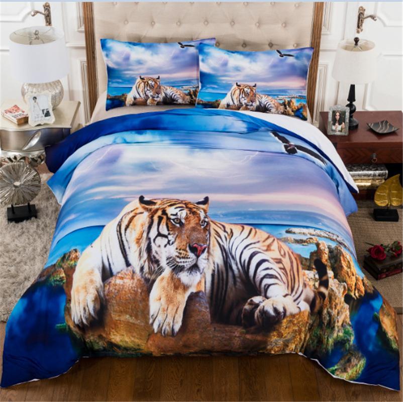 moda Patlayıcı yatak plaj kaplan üç parçalı dört parçalı ev yatak seti kraliçe yatak nevresim setss