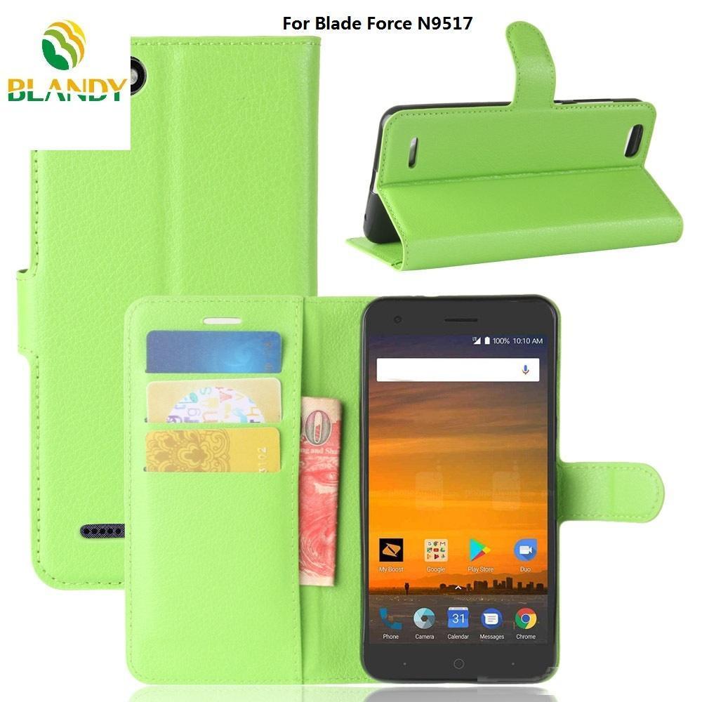 Para ZTE Tempo X N9137 litchi lichi de cuero carpeta de la PU TPU cubierta del teléfono del caso del soporte para ZTE Blade Fuerza N9517