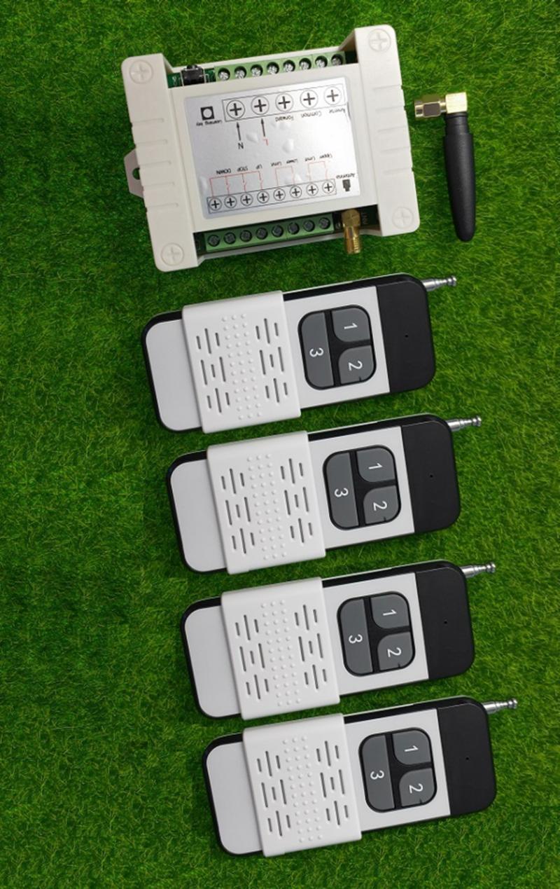 110V 220V 10A 2CH Motore Remote Switch Switch di controllo Attaccanti Reverse Su Giù Arresto Porta tenda della finestra senza fili TX RX limitata