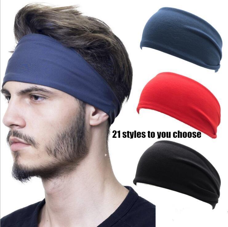 Yoga Sport Bandeau Hommes Femmes Courir Fitness HeadbandsSolid Couleur Hairband élastique Coton Gym Bandeaux Livraison gratuite WY736-AQ