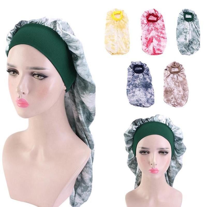 Moda Stampa Caps Stain cofano lungo sonno per tappi alta qualità delle donne della fascia notturna Capelli Cap Cura dei capelli Bonnet Nightcap Chemo