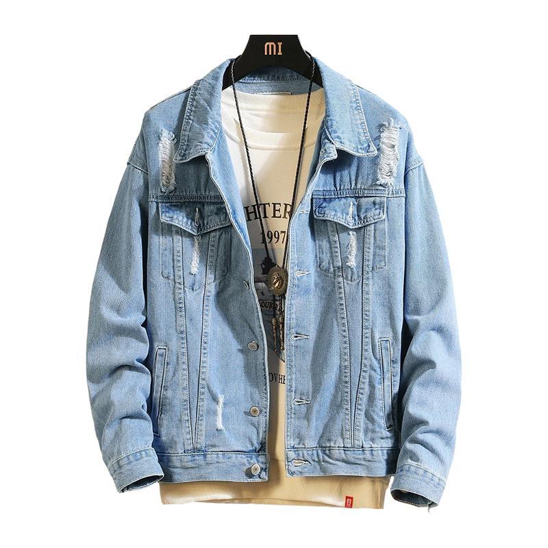 Hombres chaqueta y abrigo de moda Denim Chaqueta 2020 del resorte del tamaño Moda Jeans para hombre Outwear masculino masculino del vaquero Plus Marca Ropa
