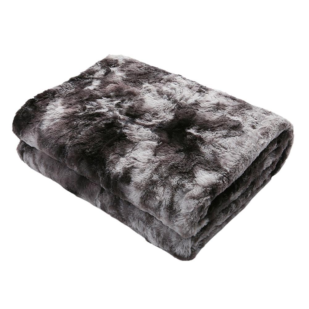 Manta otoño Invierno mullido para la cama del sofá del sofá de piel falsa de la manta del tiro de la máquina lavable