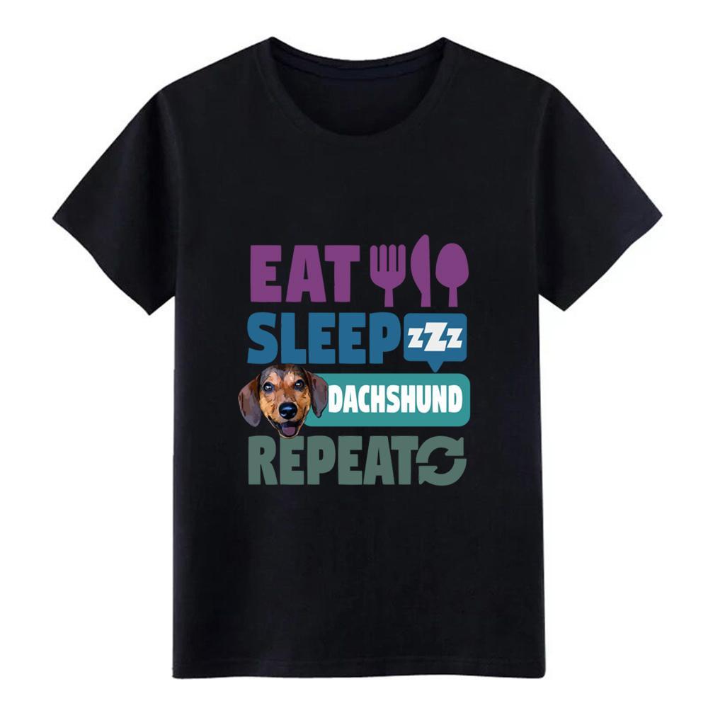 comer dachshund sono camisa repetição cão rosto cão t homens criam camiseta O Neck streetwear Anti-rugas Casual Primavera Outono tshirt