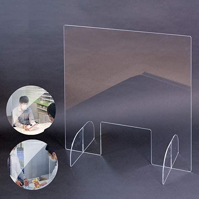 기침 카운터 거래 창 장벽에 대한 보호 재채기 가드 오피스 표 Shiled 투명 아크릴 플렉시 유리 쉴드 GWD1753 재채기