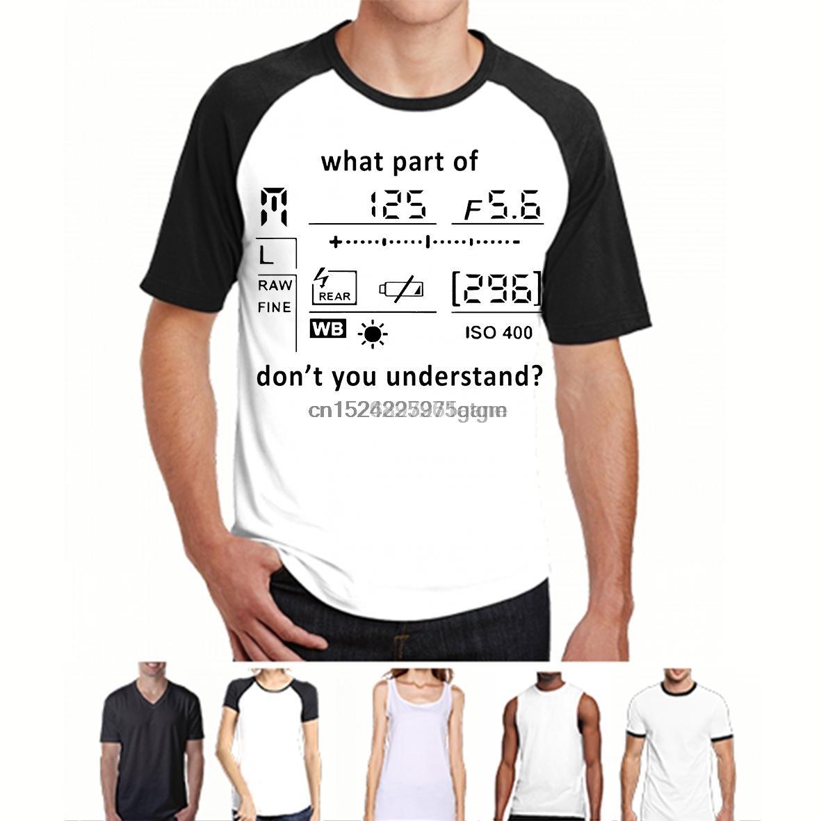 Impreso camiseta de los hombres de algodón O-Cuello camisetas PANTALLA CÁMARA qué parte del FOTÓGRAFO de manga corta camiseta de las mujeres