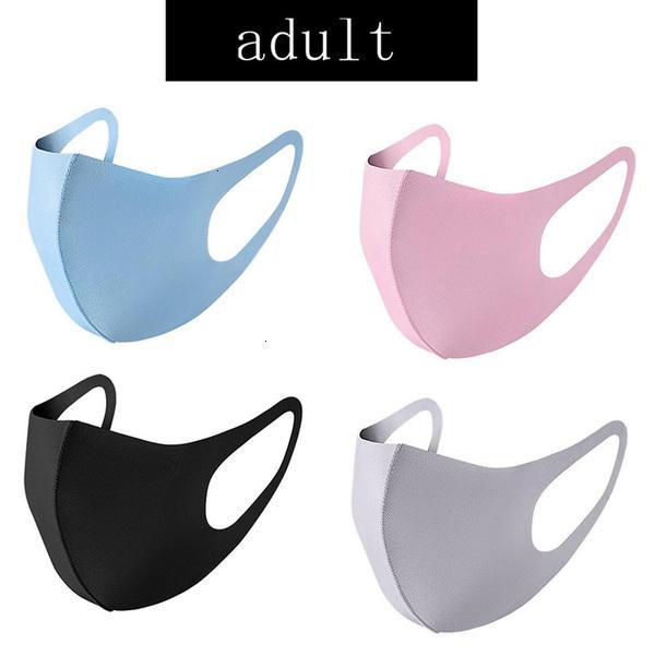 Hielo anti-bacteriana máscara de polvo cubierta PM2,5 boca del respirador facial a prueba de polvo reutilizable lavable del algodón de seda respirables máscaras para adultos K4CV Niño
