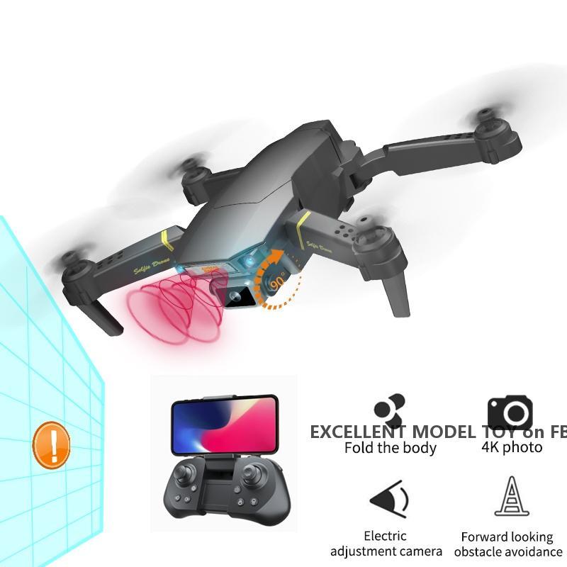 GD89 PRO 4K HD 90 ° Elektrisch einstellbar Kamera Anfänger Drohnenspielzeug, automatische Hindernisvermeidung, nehmen Sie Foto von Gesture, Track-Flug, 3-1