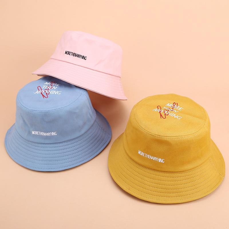 2020 رسائل جديدة التطريز الصياد قبعة المرأة طوي شقة الأعلى القطن قناع الصيف في الهواء الطلق حوض كاب وترفيه الرجال قبعة دلو